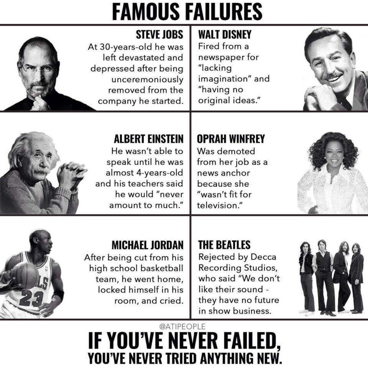 Famous failures... https://t.co/CmAxlPLJ8f