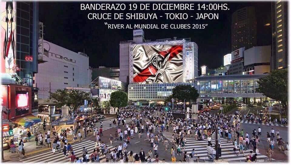12/19(土) 14:00  渋谷駅前ハチ公広場前で、リーベルのインチャたちがハンデラッソ(決起集会)予告。。。  16,000人のアルゼンチン人が集結するらしい……… DJポリス、スペイン語勉強しないと………笑 https://t.co/PqnWPJjafd