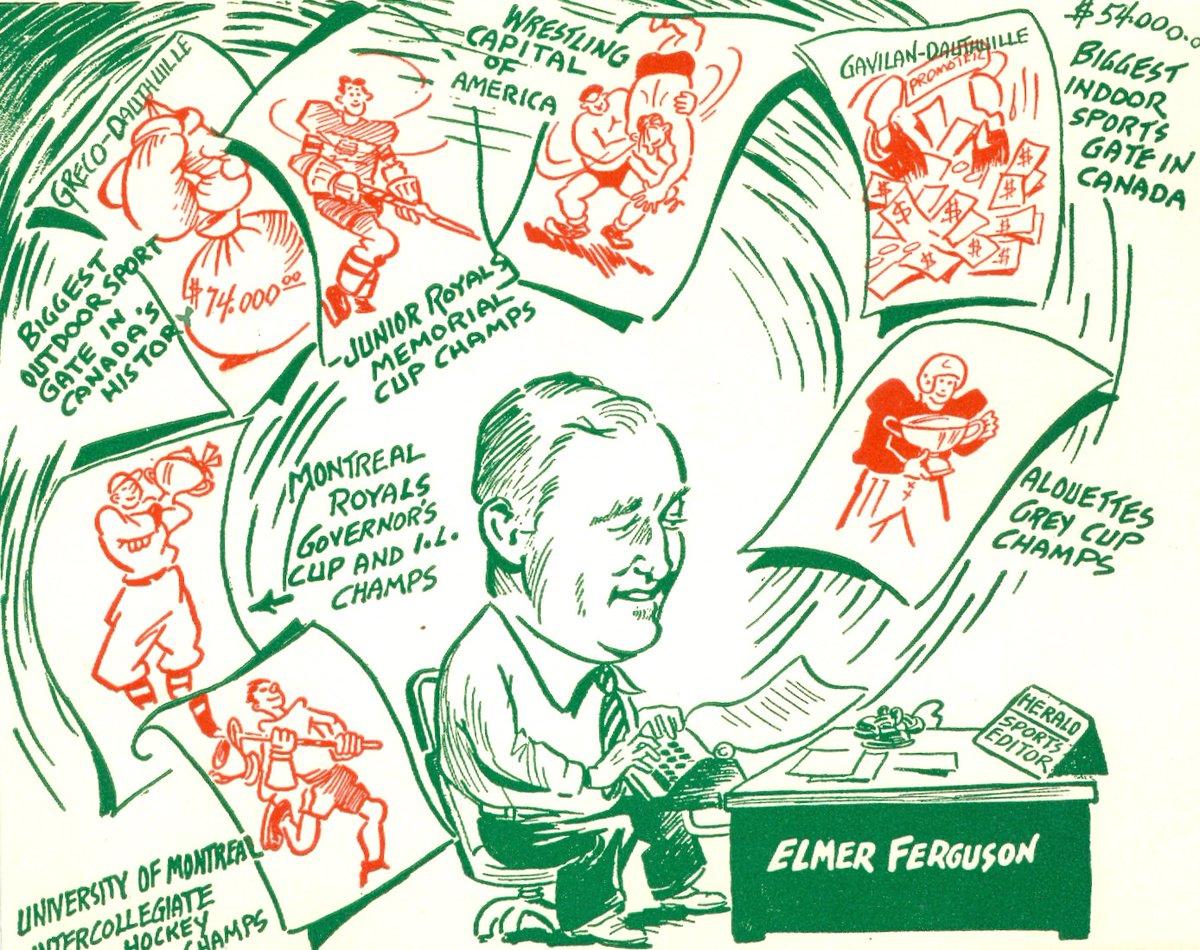 1949 christmas card of montreal herald sports editor elmer ferguson ...
