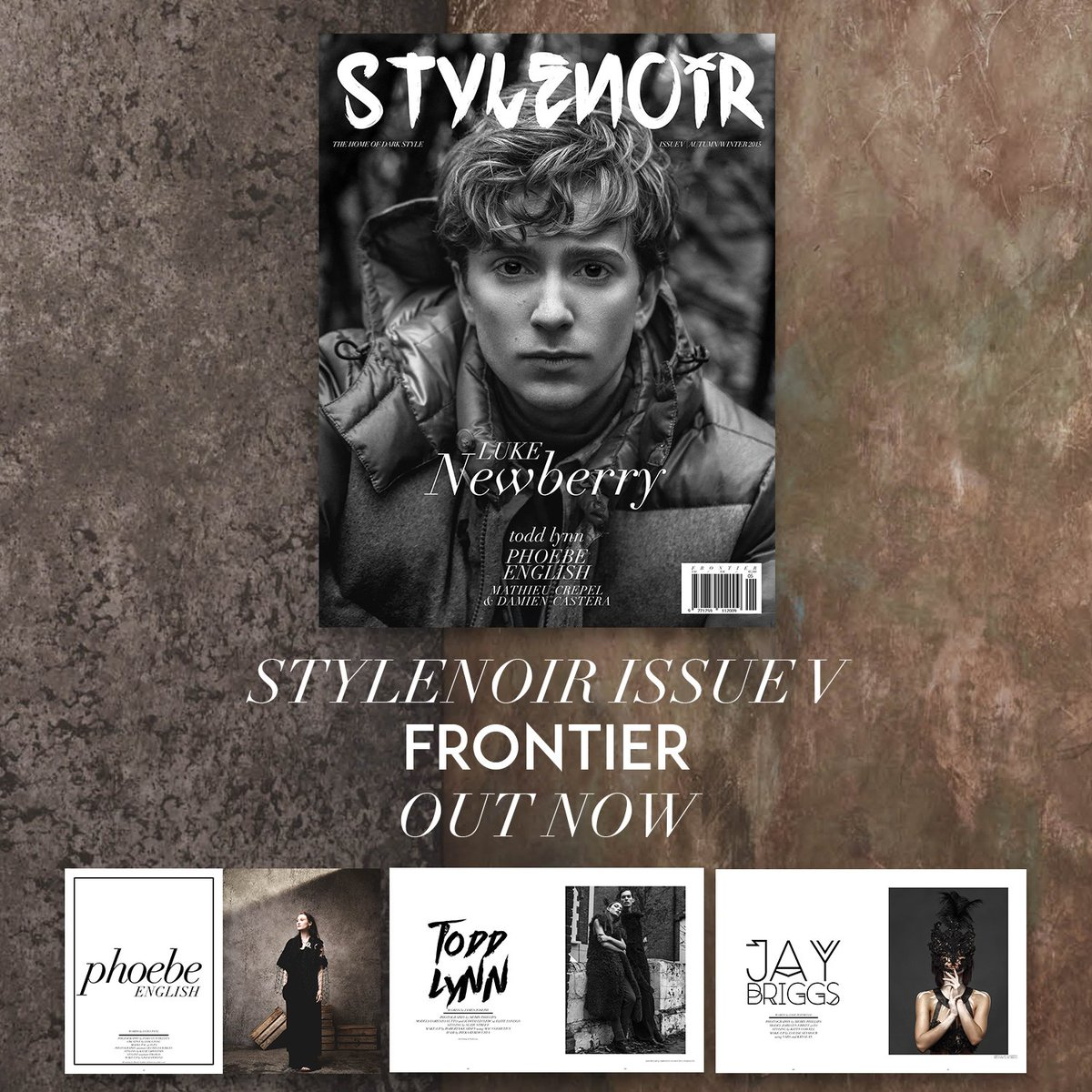 COME ON A JOURNEY WITH US. FRONTIER ISSUE OUT NOW! W/ @lukenewberry on the cover https://t.co/jwfGOKoxRn #stylenoir https://t.co/o9X0haDQTZ
