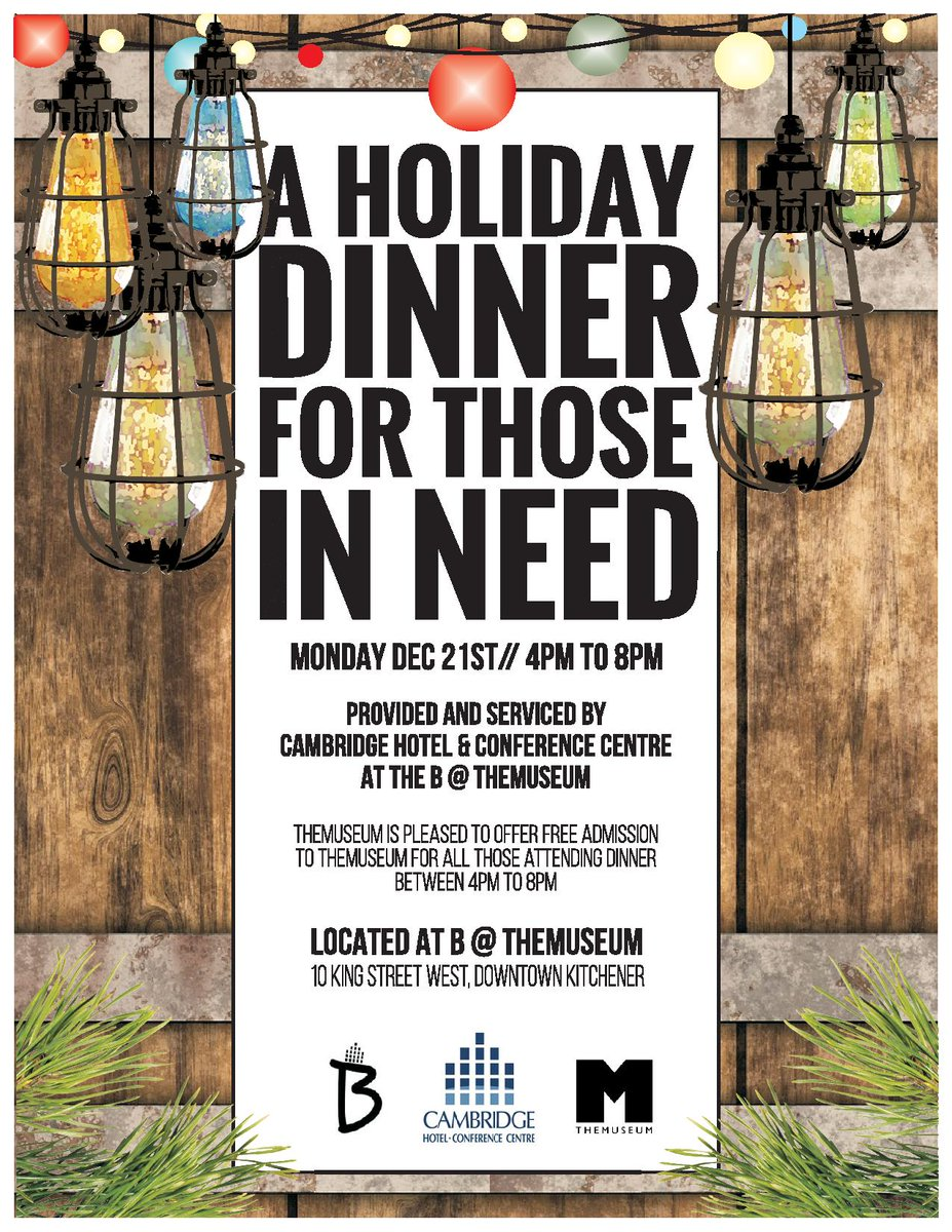 .@B_DTK & @THEMUSEUM offer holiday dinner for those in need, December 21: spread the word! https://t.co/K6FWYKZARj https://t.co/kA7S5baI0x