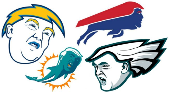 Important journalism this morning: Redesigning every NFL logo as Donald Trump https://t.co/aJVBxXVdAZ https://t.co/nEzP67EpDI