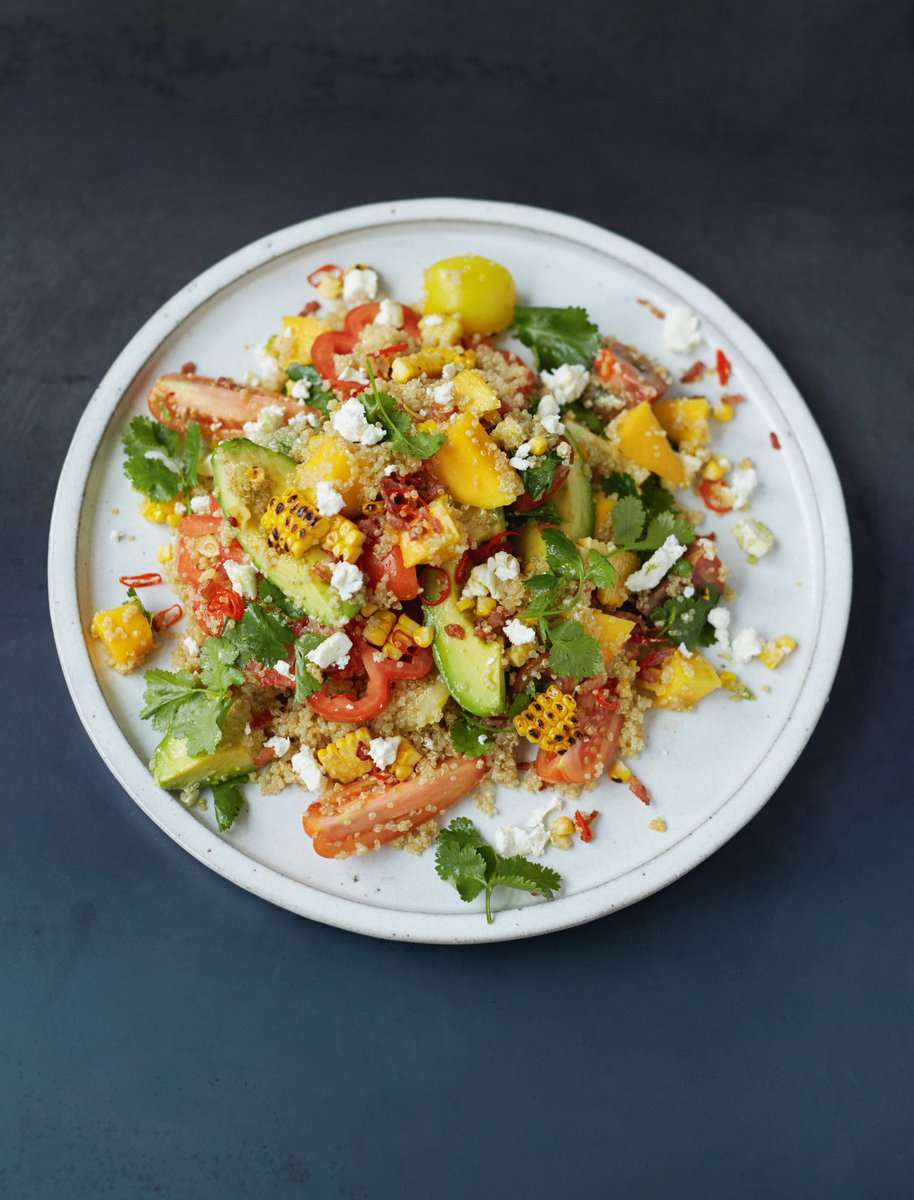 RT @TheHappyFoodie: Grilled Corn and Quinoa Salad from @jamieoliver makes a tasty, healthy lunch. https://t.co/EK49nd0Zpb https://t.co/DCc4…