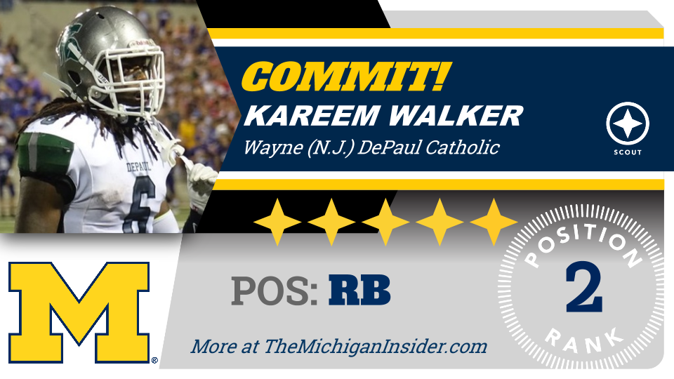#Michigan lands 5-star RB Kareem Walker: https://t.co/NalDouRdmS https://t.co/kTCJmVWks8