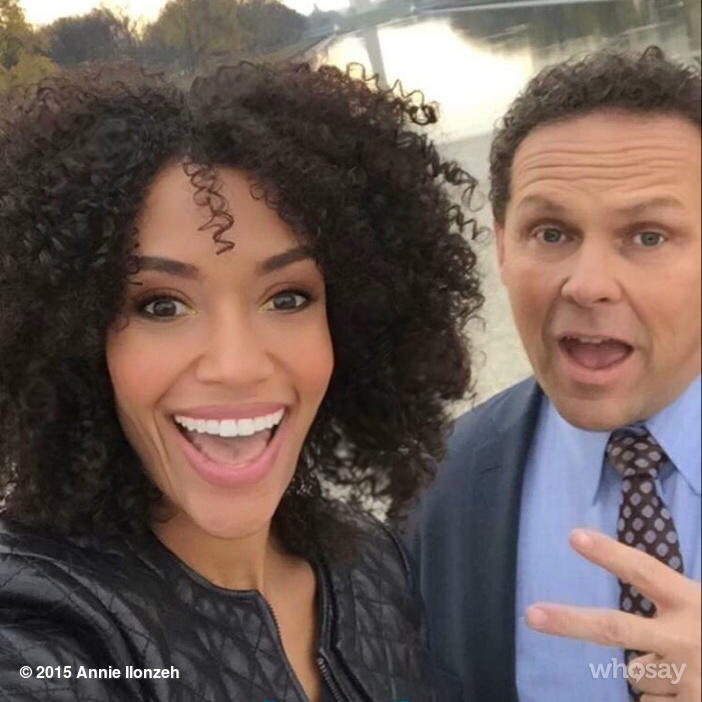 #tbt with @POIFUSCO on set for @PersonInterest