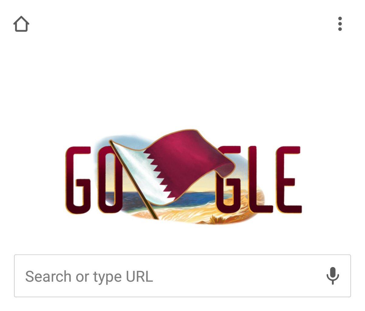 Cool! #GoogleDoodle has been updated for #QatarNationalDay