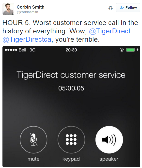 this guy live tweeted his 8 hour long customer service call from hell https