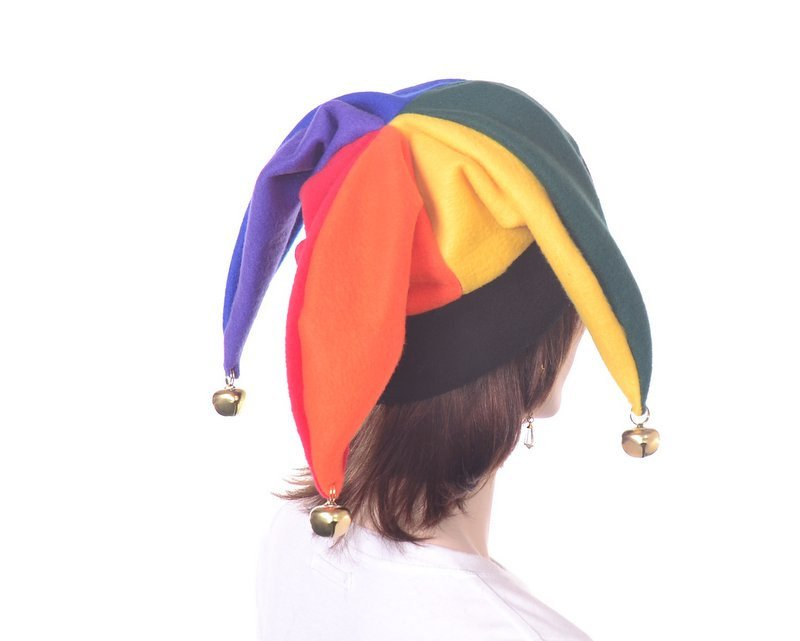 Rainbow Jester Harlequin Hat With Bells Party Hat https://t.co/s9tGqedx1D #Etsy #MardiGrasHat https://t.co/ubvPsMelBl