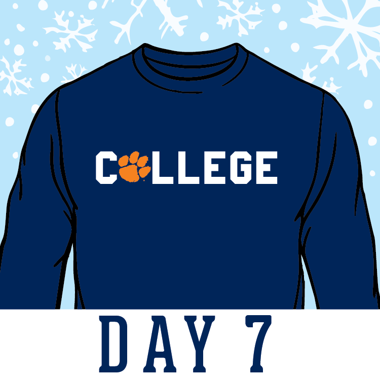 Today's #12DaysOfChristmas giveaway: College LS #ComfortColors shirt! RT for your chance to win! #ClemsonChristmas https://t.co/Nz4jkgywtH