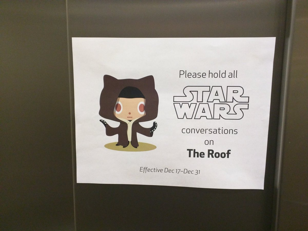 We take Star Wars spoilers very seriously here at @github HQ. https://t.co/zq5yvLYn9t