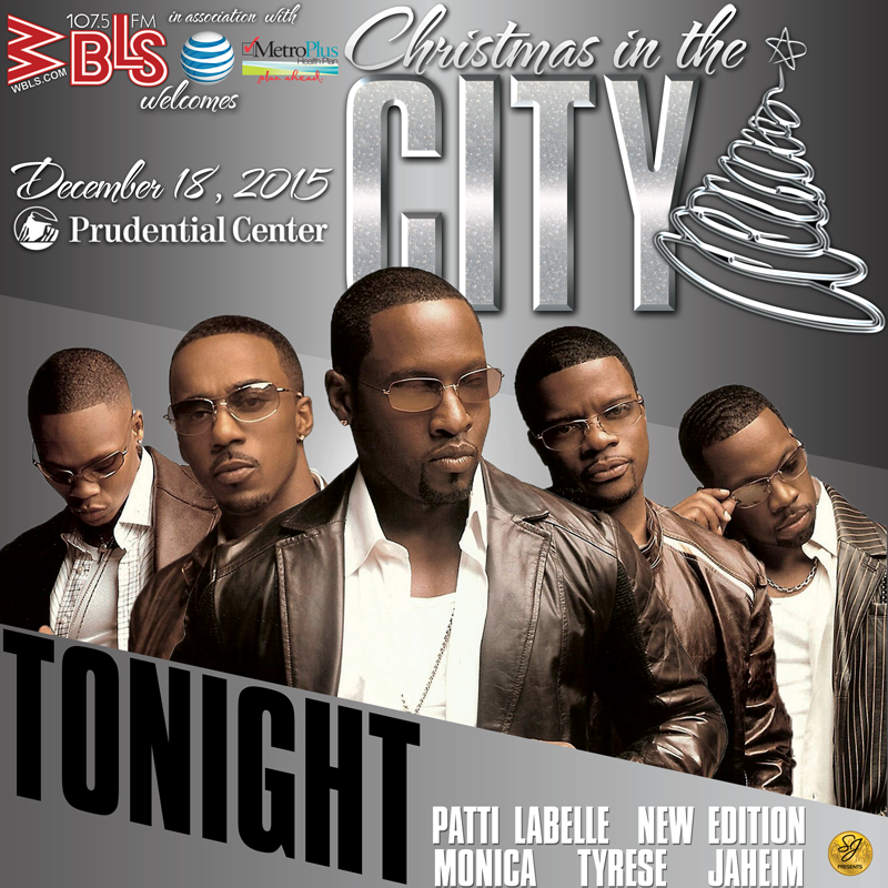 TONIGHT! #ChristmasInTheCity ft @NewEdition @MonicaBrown @Tyrese @officialjaheim + @MsPattiPatti! #Rnb #soul #music https://t.co/Ws3CoJGTqF