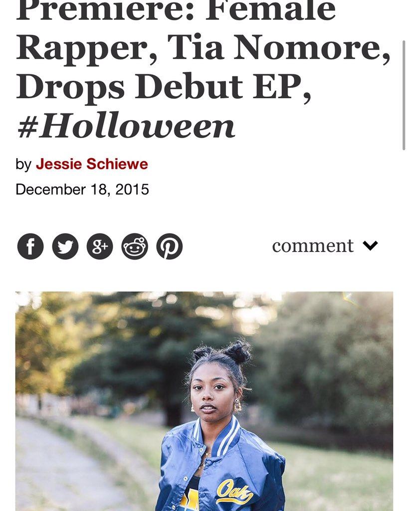 "Tia Nomore drops her warm-up EP entitled ""#Holloween"" on https://t.co/3rDVkmHPNu.   https://t.co/q7MYxFj6ck https://t.co/VV2A9Yq7iQ"