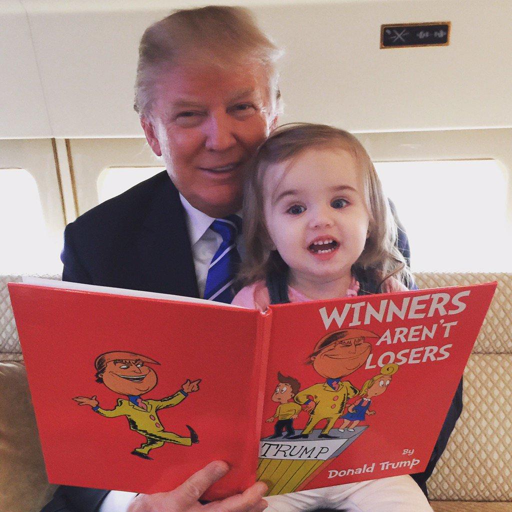 Thank you @jimmykimmel for the great book. Grandpa @realdonaldtrump is making good use of it!!! #WinnersArentLosers https://t.co/LLYQVzOlYZ