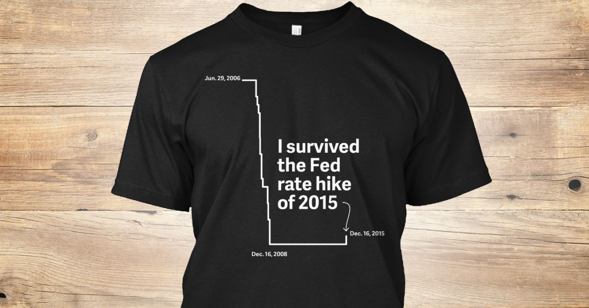 We made a T Shirt w/ a squirrel & a martini glass on it. @qz made one w/ a Fed rate chart https://t.co/f3pERUmTrd https://t.co/TWywdFMWFs