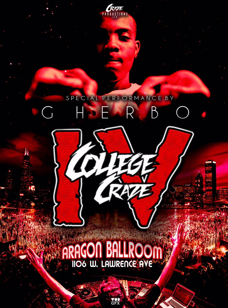 G HERBO will be giving a SPECIAL LIVE PERFORMANCE @ #CollegeCraze4 ❗️  ARAGON BALLROOM  https://t.co/YHf28jj90p https://t.co/wzoCJqt5xB