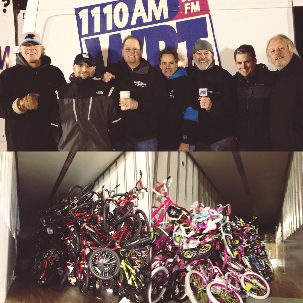 Your generosity is overwhelming #clt! You donated 589 bikes and made #christmas truly bright for 589 children. https://t.co/xYDxl29vLC