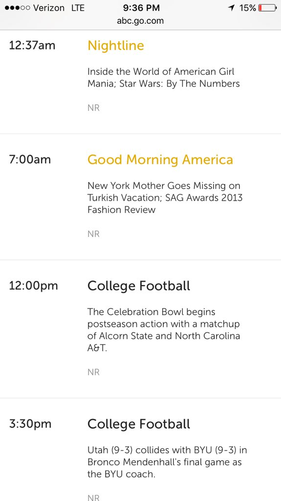 Tune into ABC tomorrow at 12:00pm! #NCAT #CelebrationBowl https://t.co/RmU6nEfAGk