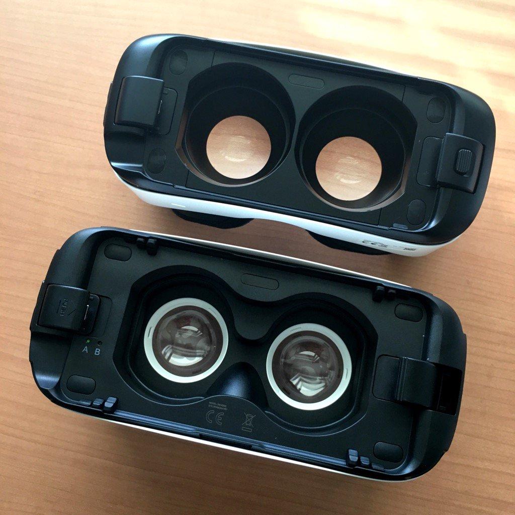新Gear VRの目玉はサイズ違いのデバイスに対応するためのポジション切り替え。S6 edgeは本来Bポジションだけど、AにすればGear VRモードが起動せずにOculusやCardboardのアプリが使える。 https://t.co/F3r9LzpjgN