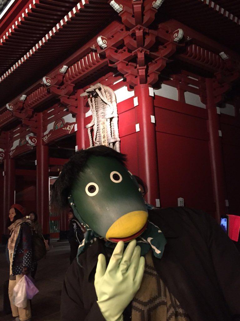 大怪展見に来て、そのまま羽子板市に来たら背後に益次郎さん居てびっくり(笑) https://t.co/Vu0Uhma7on