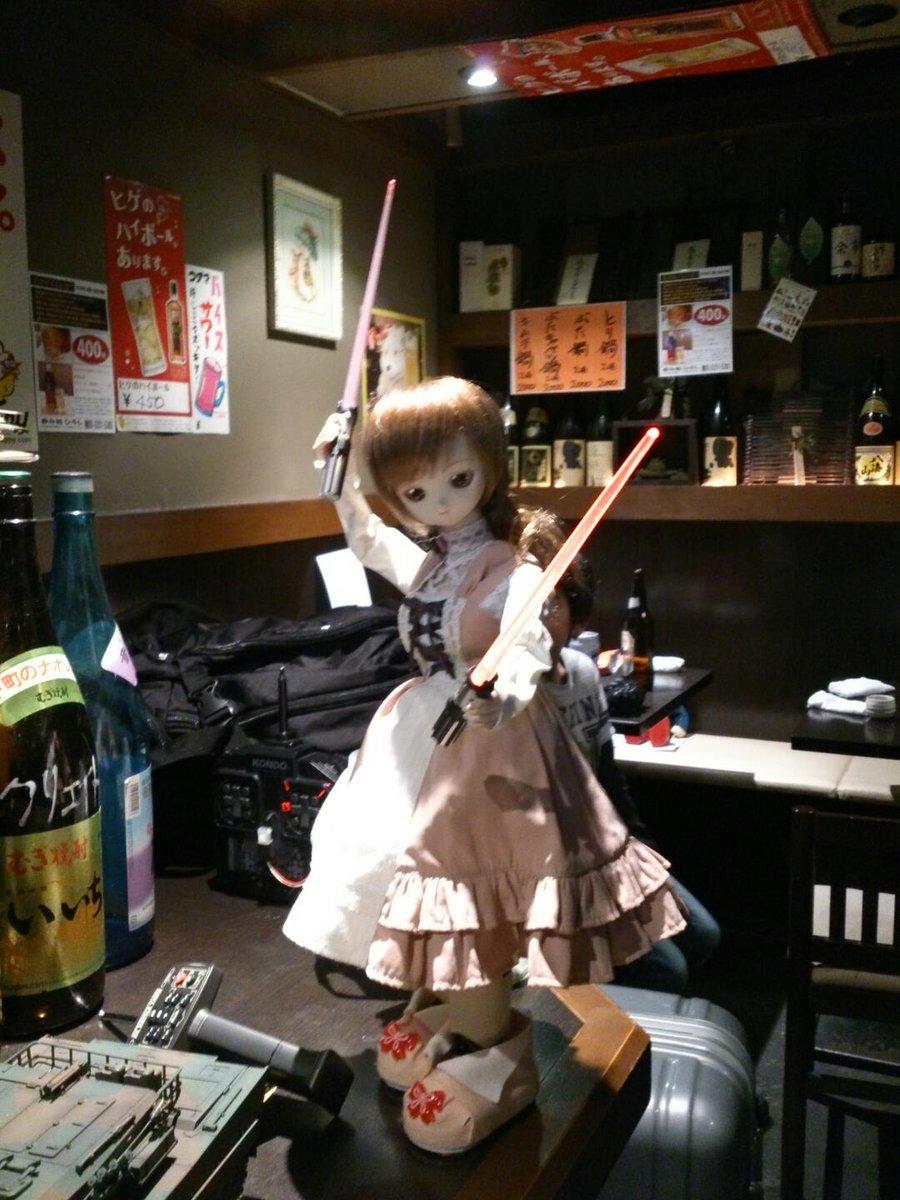 (ROBO) たぶんこの人形が動くとは誰も思わないだろうww (ロボット好き共の忘年会にて) https://t.co/b5Ru7M6oMM