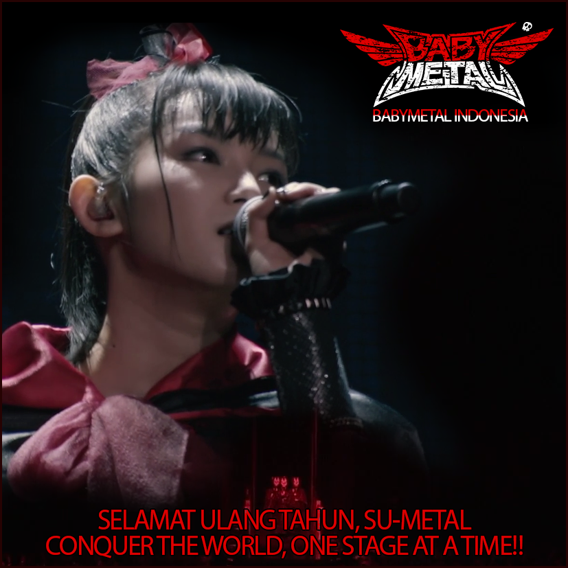 @BABYMETAL_JAPAN Su-Metal Happy Birthday!!! Conquer the world, one stage at a time!!!!! https://t.co/cWA9uyrv2u