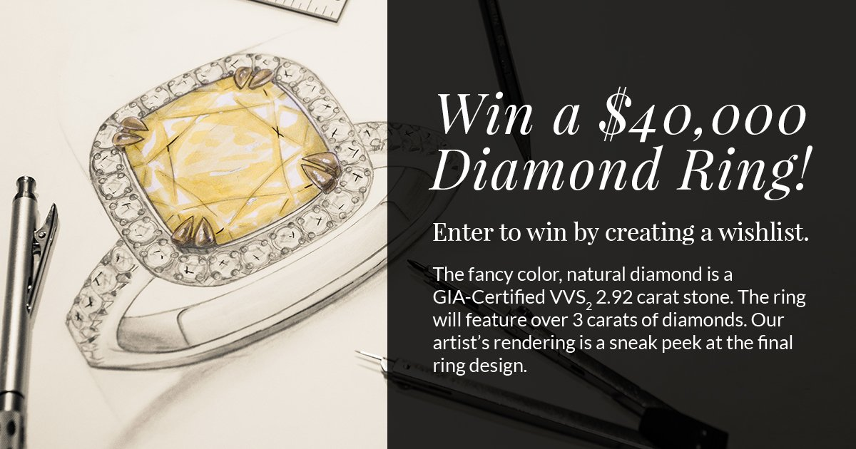 Who do you know that would love to win the $40K Diamond Ring in our sweepstakes? Enter: https://t.co/ZMu6n6nyDn https://t.co/005q1ZM6A9