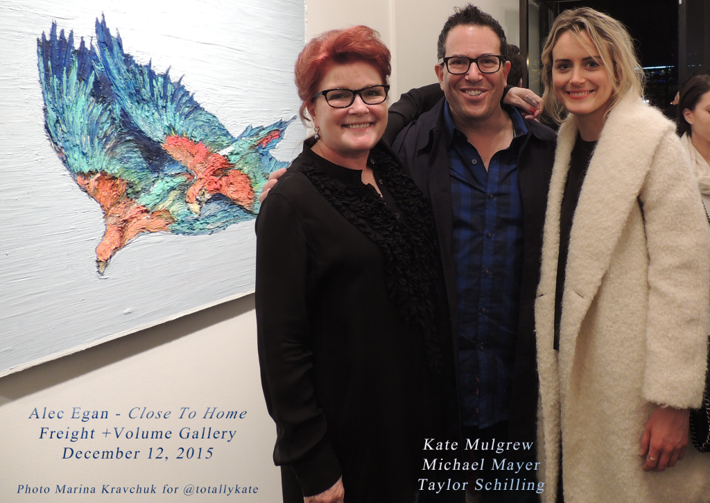 #KateMulgrew Michael Mayer @TaySchilling at #AlecEgan's 'Close To Home' @freightvolume   Dec 12, 2015 #OITNB https://t.co/MkxTDtUXXL