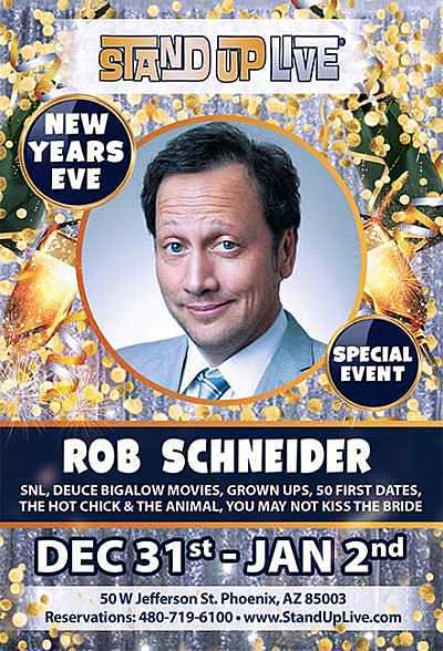 You + @standuplive + @RobSchneider = 2015 New Year's Eve Party  - Get your tickets here https://t.co/O2CHb9cEiY https://t.co/6K6Kwhj6Av