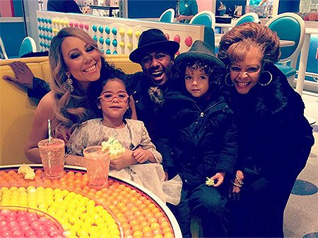 Nick Cannon and Mariah Carey reunite to get their kids ready for Christmas