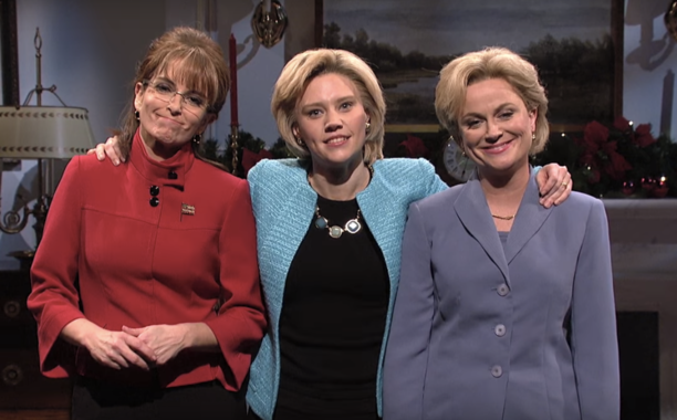 Tina Fey & Amy Poehler revived their impressions of Sarah Palin & Hillary Clinton on SNL: