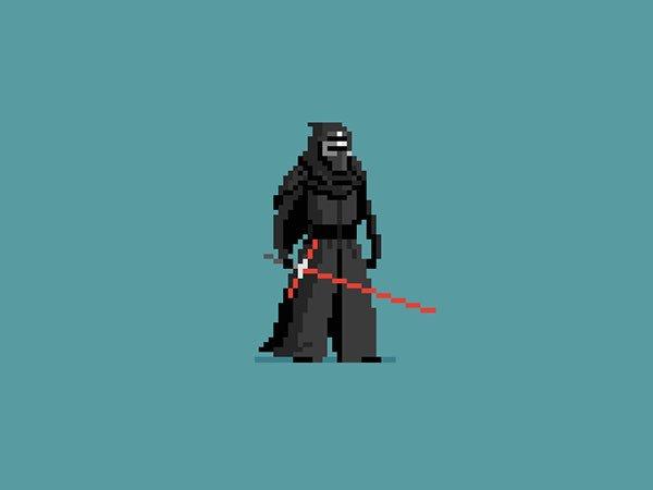 I think I would rank my favorite #TheForceAwakens characters like this:  1. Kylo Ren 2. Finn 3. BB-8  #pixelart https://t.co/DLdhvl63GX
