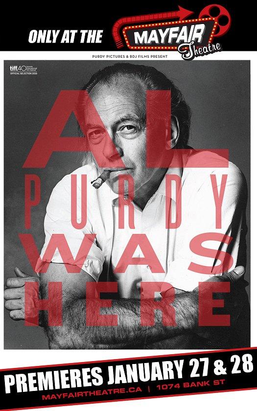 Al Purdy Was Here - Ottawa Premiere: Jan 27 & 28! w/ @MargaretAtwood, Leonard Cohen, Gordon Pinset, Bruce Cockburn https://t.co/oHK8OxR0ru
