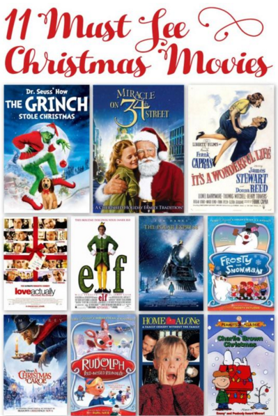 11 Must See #Christmas movies - how many of these have you seen? AD https://t.co/pLMOsorxGb Best time of the year! https://t.co/0CY6GOS70d