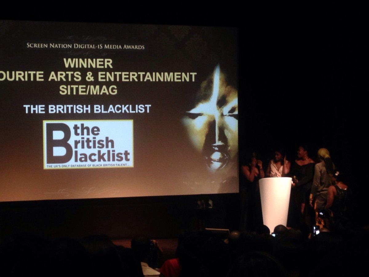 Our Favorite Arts & Entertainment/Lifestyle Site/Mag winner is The British Blacklist @BritBlacklist! https://t.co/3nTvbSP7LH