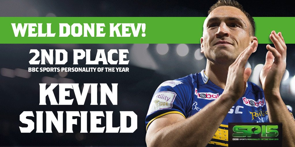 Congratulations to Kevin Sinfield on his second place in @BBCSPOTY - thank you to everyone who voted https://t.co/0vKmkE7SIr