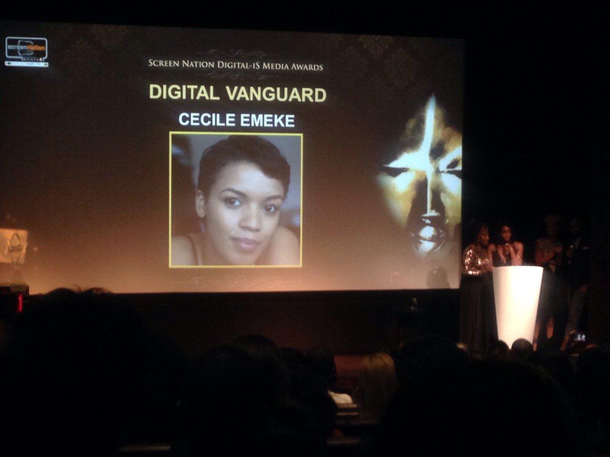 Our Digital Vanguard Award goes to Cecile Emeke @cecileemeke https://t.co/ODsnQijSs1
