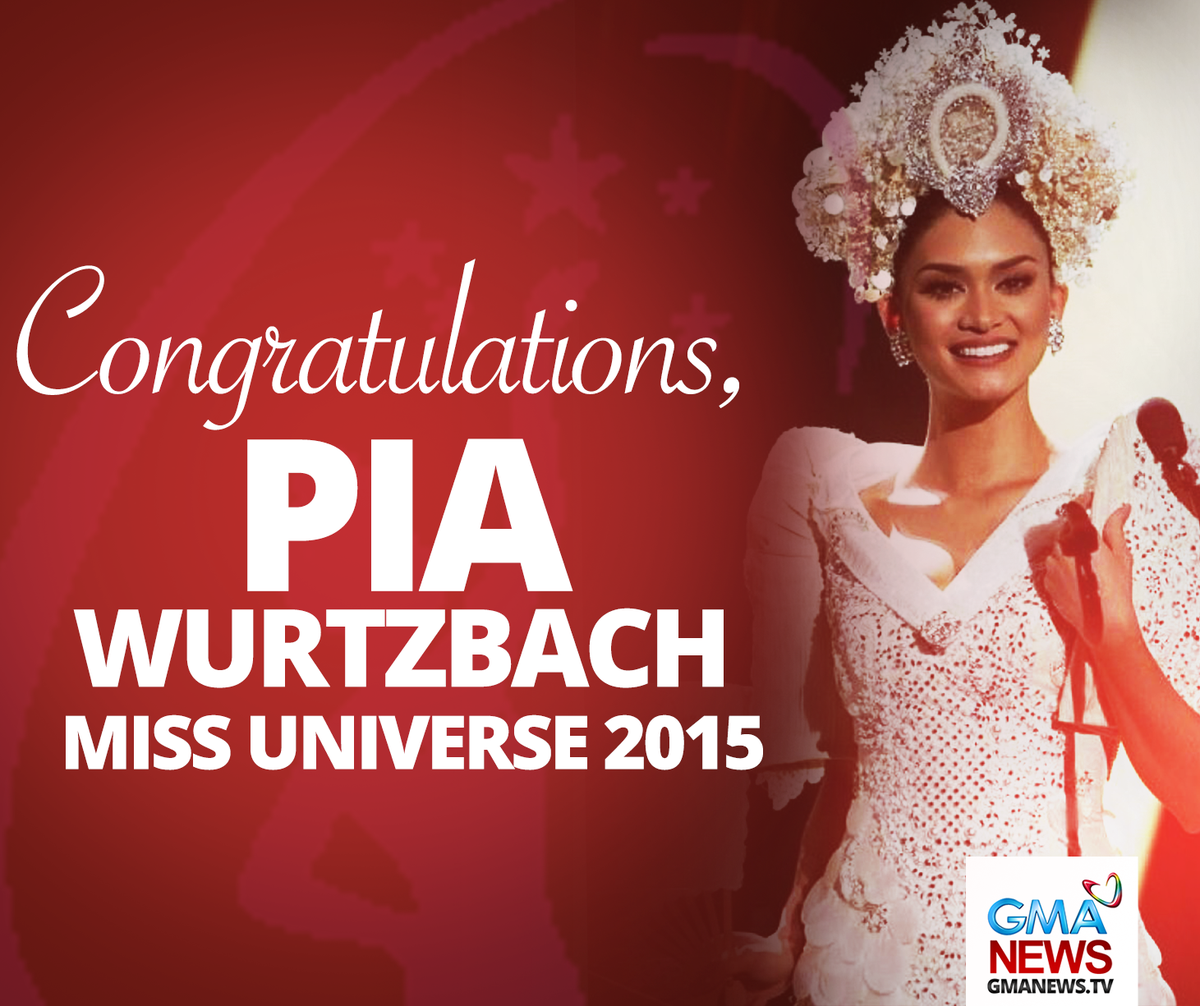 The Philippines' @PiaWurtzbach is #MissUniverse 2015! https://t.co/rjdh5MHia5 https://t.co/SGfRHdzjGR