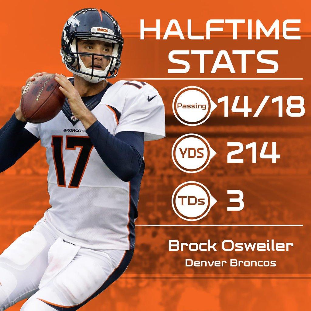 Brock Osweiler is throwing 🔥  brock