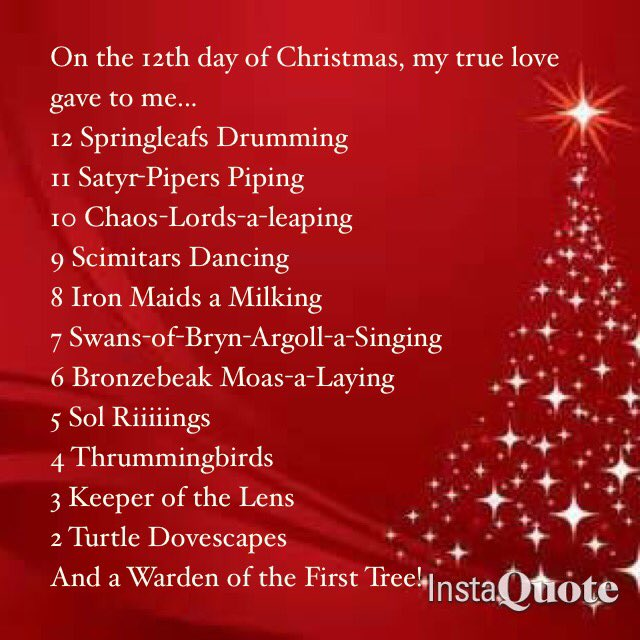 Tis the season... Introducing the 12 days of Christmas, the MTG remix https://t.co/Fk5ypKLfh0