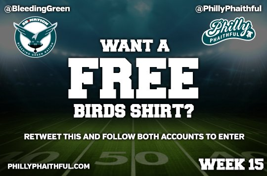 Let's go #birdgang, big game! Win a free shirt for next week by RT'ing and following both us and @BleedingGreen https://t.co/mWv54azb4D