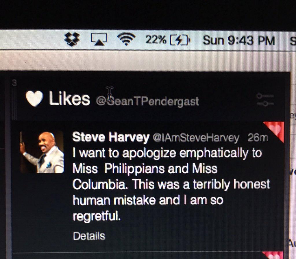 Hey @IAmSteveHarvey, you can delete it, but we all saw it ... #MissPhilippians ... https://t.co/n0T8rFUqbh