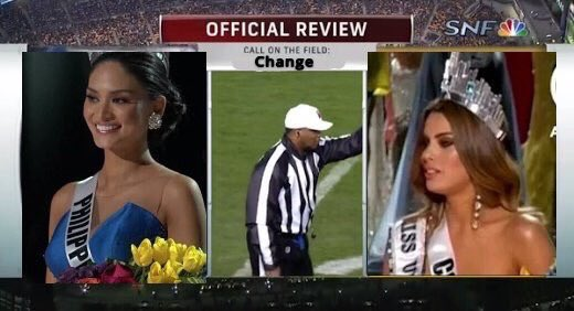 Who did this?!? You Tweeps are way too quick! #MissUniverse2015 https://t.co/RoElYmWdKg