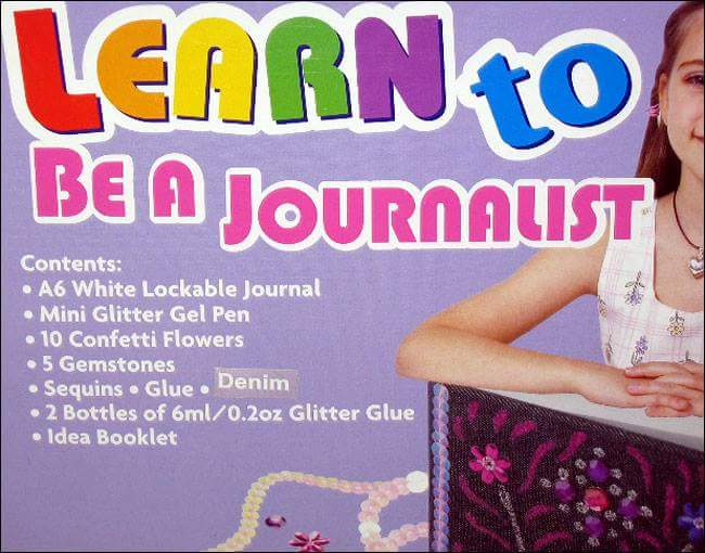 Learn to be a journalist. Glitter essential. https://t.co/LYT5boYVNl