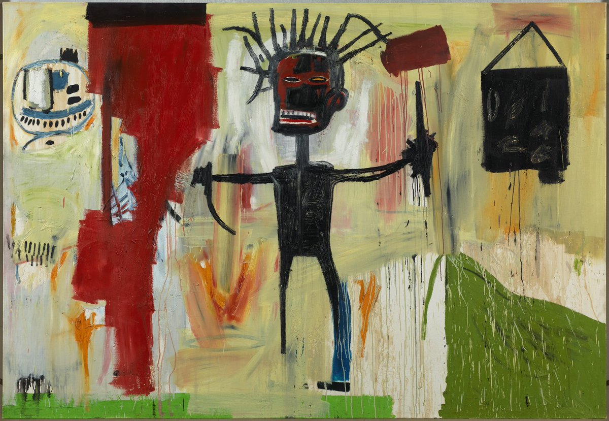 """""""I don't think about art when I'm working. I try to think about life."""" Quote from #Basquiat who was #bornonthisday https://t.co/siLTUQzLLu"""