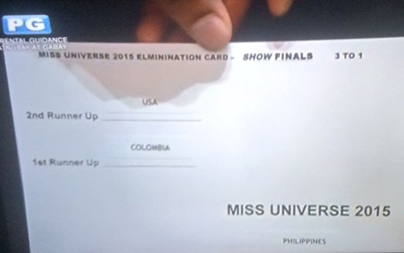 This is the ballot card that caused Steve Harvey to announce the wrong Miss Universe winner https://t.co/5OLdnjVu97 https://t.co/GH75Kc7jFs