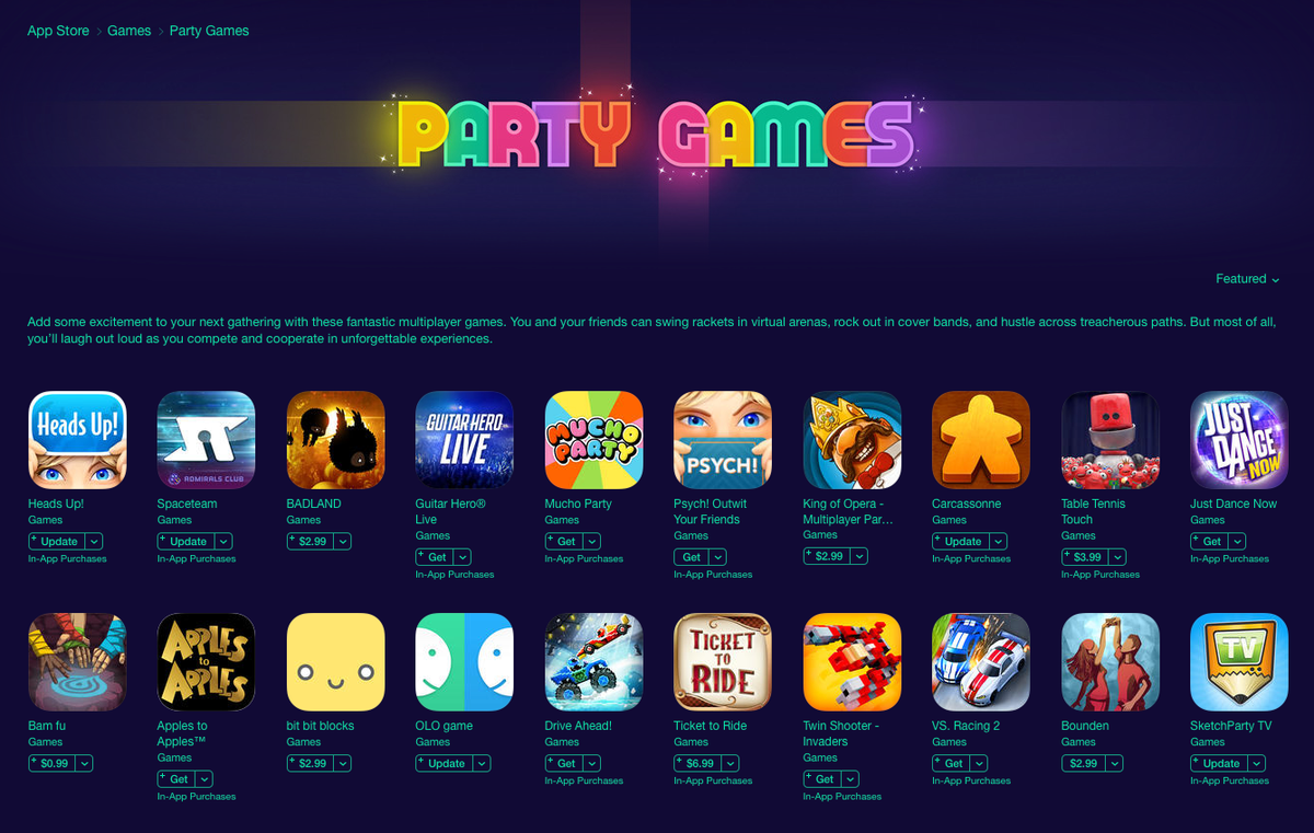 If you're looking for an iOS party game for the holidays Apple kindly made a list. https://t.co/Avs0UT0mMr https://t.co/j0ShAAUS4T