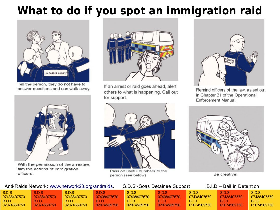 With unlawful practices rife during immigration raids, important to know your rights @AntiRaids https://t.co/ko1RyN6poL