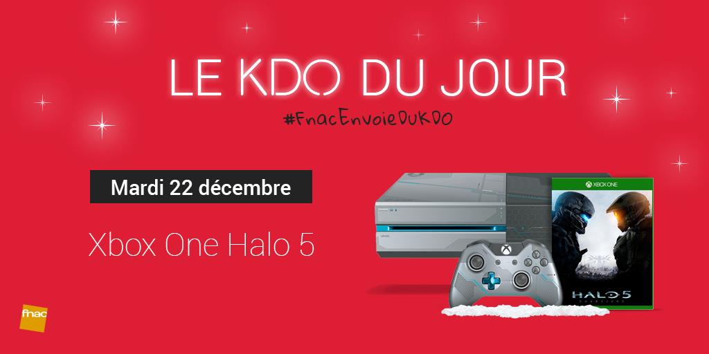 [22/12] RT + tweete avec #FnacEnvoieDuKDO pour tenter de gagner cette @XboxFR One #Halo5 ! https://t.co/QWoAXh0Oyw https://t.co/4L30gIhNH2