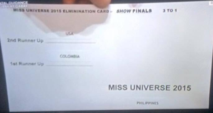 Ok if this is the card he had to read from... I understand, @IAmSteveHarvey #MissUniverse2015 https://t.co/8fsMzxpL1I