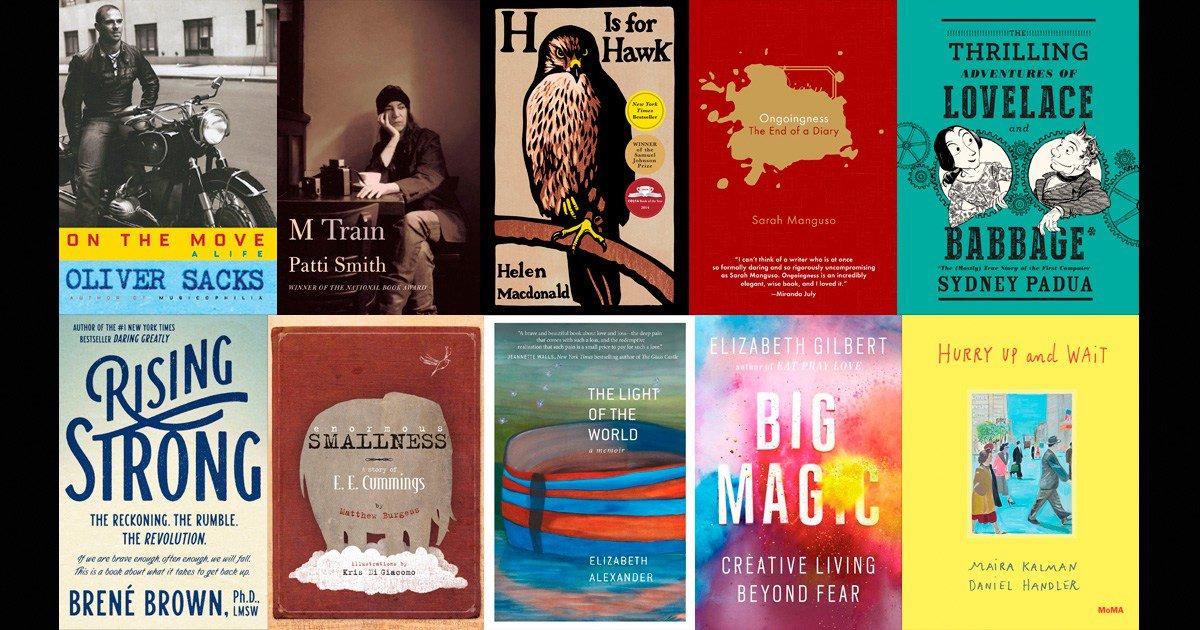 .@brainpicker's list of 15 best books of 2015 begins with Oliver Sacks: https://t.co/pbkfmZo0Px https://t.co/juht8DbQ0L